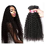 Ohlees 7A Brazilian virgin hair weaves kinky curly 3 bundle Afro 100%  capelli umani brasiliani 2cb4992c3427