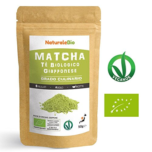 Japanese Organic Matcha Green Tea Powder [ Culinary Grade ] 50 gr | Tea Produced in Japan, Uji, Kyoto | Use for Cooking, Baking, Smoothie Making and with Milk | Vegan & Vegetarian Friendly