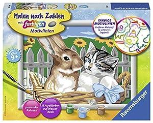 Ravensburger Putzige Freunde Kit de Pintura por números - Libros y páginas para Colorear (Kit de Pintura por números, 1 páginas, Niño, Niño/niña, 9 año(s), 24 cm)
