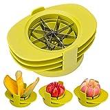 Bibetter Apfel Birne Corer Slicer Tomatenschneider 4in1 Multifunktions-Obstschneidemaschinen-Set Küchenwerkzeug