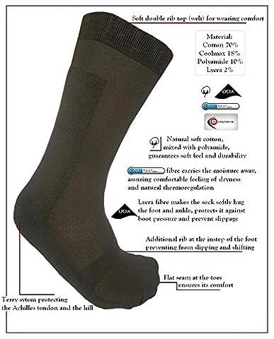 étendu Semi chaud forestier Chaussettes Taille UK 9–12(EUR 43–46) La chasse Camouflage vert Automne lumière d