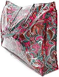 Bolsos Grandes Plástico Playa Compras Mujer Bolso Impermeable con Cremallera, Varios Modelos y Colores