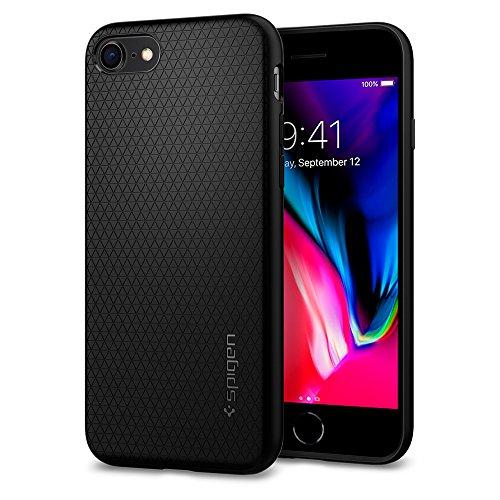iPhone 7 Hülle, Spigen [Liquid Armor] Soft Capsule [Schwarz] Luftpolster-Technologie Handyhülle - Soft Flex Premium-TPU Schutzhülle für iPhone 7 Case, iPhone 7 Cover - Black (042CS20511)