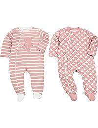 Baby Butt Schlafanzug 2er-Pack mit Druckmotiv Hase Interlock-Jersey