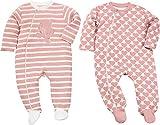 Baby Butt Schlafanzug 2er-Pack mit Druckmotiv Hase Interlock-Jersey rosa Größe 62 / 68