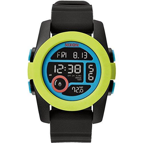 Männer Nixon-unit Uhren (Nixon Unisex-Armbanduhr Unit 40 Digital Quarz Plastik A4901953-00)