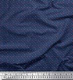 Soimoi Blau Baumwolle Batist Stoff Punkt & Kreis