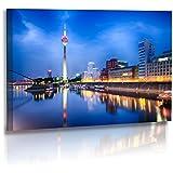Premium - Poster - Fotos - Architekturfotografie - Bilder - Düsseldorf Skyline - Medienhafen - Posterdruck (80 cm x 45 cm)