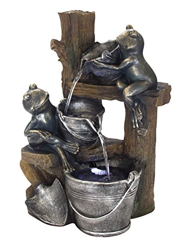 DARO DEKO Brunnen Set mit Stromstecker und Pumpe (G) Frösche