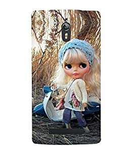 Takkloo baby doll ( cute doll, beautiful eye doll, white hair, sweet lips, white scooter) Printed Designer Back Case Cover for Oppo Find 7 :: Oppo Find 7 QHD :: Oppo Find 7a :: Oppo Find 7 FullHD :: Oppo Find 7 FHD