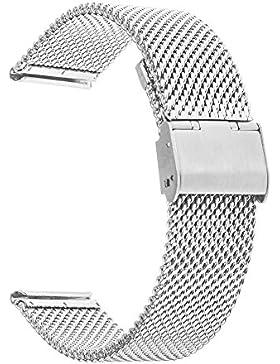 TRUMiRR 18mm Uhrenarmband Milanese Edelstahl-Band für Huawei Uhr 1. / Fit Ehre S1, Asus Zenwatch 2 Damen 1.45...