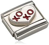 Nomination Damen-Charm Composable Herz XOXO Edelstahl Emaille - 330202/21