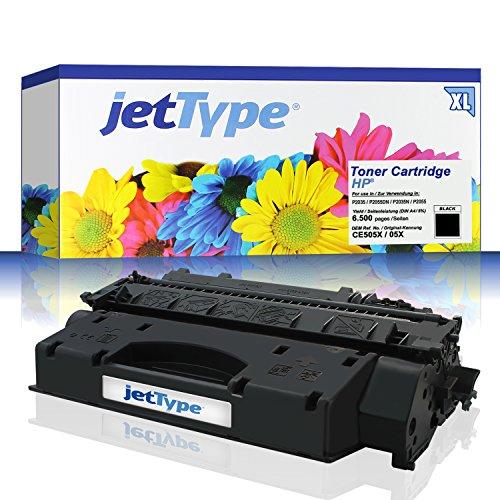 jetType Toner ersetzt HP 05X / CE505X für LaserJet P2055DN / P2055...
