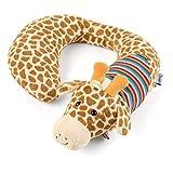 Sterntaler Nackenstütze Kuschelzoo, Giraffe Greta, Größe: L, Alter: Für Babys ab der Geburt, Gelb