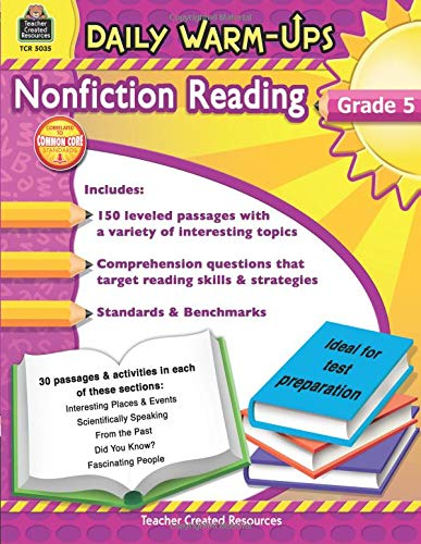 Daily Warm-Ups: Nonfiction Reading Grd 5: Nonfiction Reading Grd 5