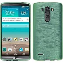 Funda de silicona para LG G3 - brushed verde - Cover PhoneNatic Cubierta + protector de pantalla