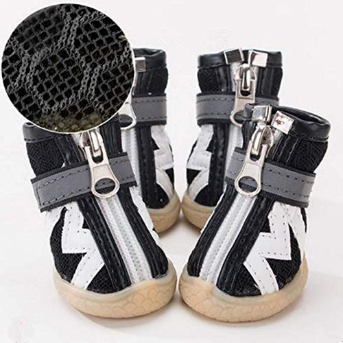 miaoxuewei Welpenschuhe Schuhe Sommer kann Nicht Fallen Teddy kleine Hunde Sandalen als Bären Frühling und Sommer Haustiere Füße Decken Anti-Dirty-Set von 4
