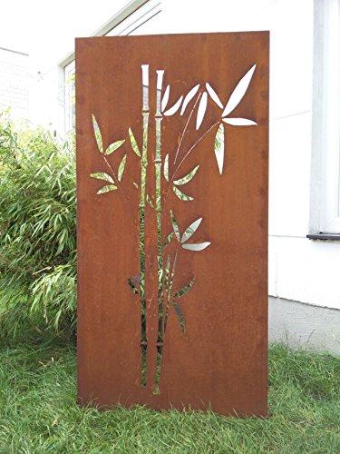 Zen Man Garten Sichtschutz aus Metall Rost Gartenzaun Gartendeko edelrost Sichtschutzwand 031663-1 150 * 75 * 2CM