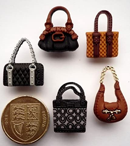 Posh Purses - Novelty Craft Buttons & Embellishments by Dress It Up by Dress It Up