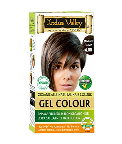 e564b85008576 Indus valley ammonia free Natural OTP hair color medium brown 4.0 Pack of 1  (35Grams