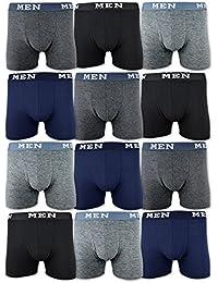 4 | 10 | 20 Boxershorts Baumwolle MEN Herren Retro Shorts Schwarz Blau Grau M L XL XXL XXXL - sockenkauf24