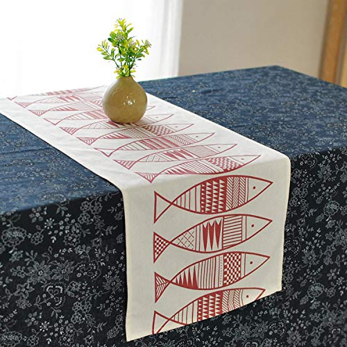 FeiFei156 Stil Tisch Flagge Schrank Flagge Abstrakte Totem Fisch Große Totemfische 30 x 220cm -