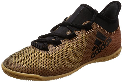 adidas Unisex-Kinder X Tango 17.3 in Gymnastikschuhe, Mehrfarbig (Tactile Gold Met. F17/Core Black/Solar Red), 30 EU
