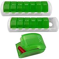 2 Stück Massive 7 Tage Pillenbox Tablettenbox Medikamentenbox Pillendose Tablettendose preisvergleich bei billige-tabletten.eu