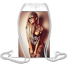 Sexy Rebel Inked Girl Personalizado Impreso Bolsa Con Cordón Saco