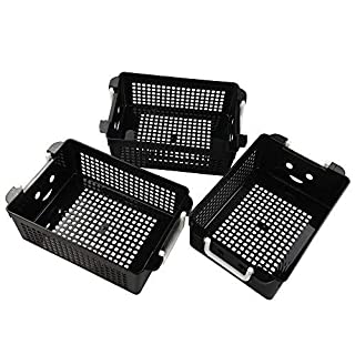 Anbers Black Storage Baskets with Handle, 3 Packs