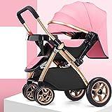 MC-BLL-Baby stroller Poussette bébé Peut s'asseoir inclinable lumière Pliant Haute...