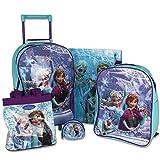 Trolley Set Frozen 5tlg. - Kinderrucksack - Schultasche - Handtasche - Geldbörse