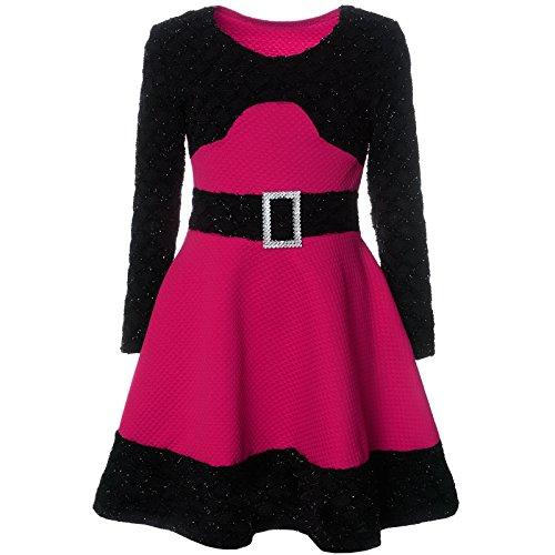 er Spitze Winter Kleid Langarm 21640, Farbe:Pink, Größe:152 (Schule Mädchen Kleider)