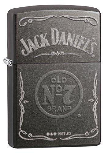 Zippo 60002303 PL Jack Daniels Feuerzeug, Messing, Edelstahloptik 1 x 3,5 x 5,5 cm