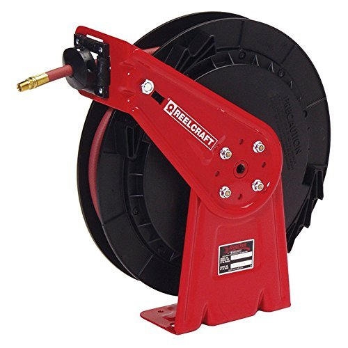Spring Reel Rewind (Reelcraft RT835-OLP 1/2-Inch by 35-Foot 300 PSI Spring Rewind Hose Reel by Reelcraft)