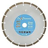 Diamanttrennscheibe Beton 180 Silver Racer Diamant-Trennscheibe für Beton Leichtbeton Altbeton Mauerstein Verbundstein und allg. Baumaterial