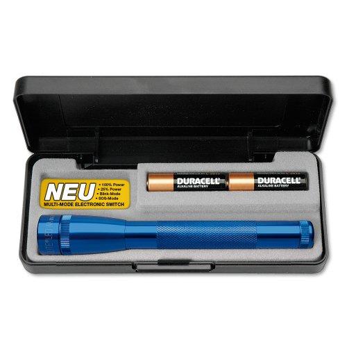 Mini Maglite 2AA Multimode LED-Taschenlampe, 97 Lumen, 17 cm blau inkl. 2 Mignon-Batterien im Etui, SP22117F