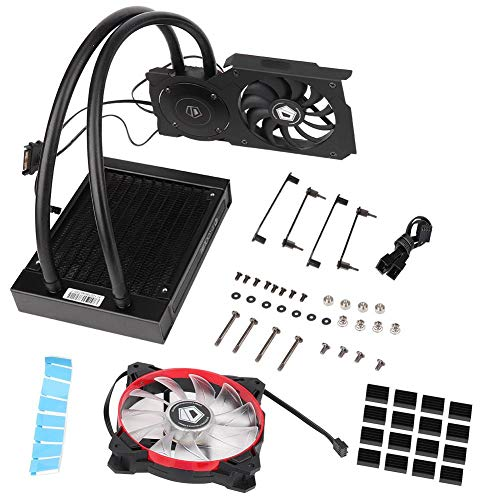 Memory Cooling Kit (Wasserkühlungs-Kit, ID-Cooling Frostflow 120VGA-Grafikkarte Wasserkühler CPU-Kühler 12CM Lüfter, CPU-Lüfter)