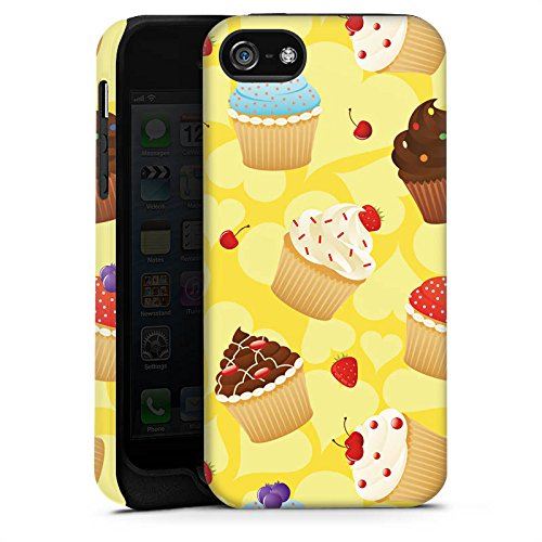 Apple iPhone 5s Housse étui coque protection Muffin Cake Gâteau Cas Tough terne