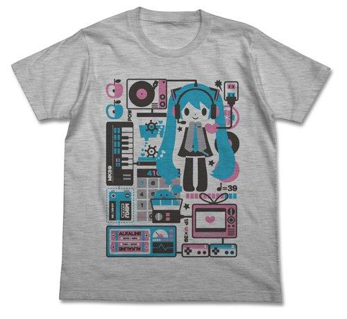 Vocaloid Miku Hatsune Creators Cv Series 006 Okahijiki Grey T-Shirt Pack | XL