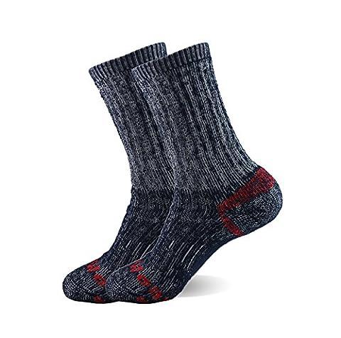 Enerwear Carhartt Men's 2 Pack outlast Work Boot Crew Socks & Athletic Socks (10-13 style 2, Navy)