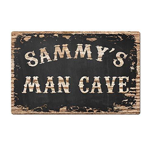 Vintage Sammys Man Cave Tin Sign Metal Sign Metal Poster Metal Decor Wall Sign Wall Poster Wall Decor Home Office Bar Pub Store Garage Coffee Shop Hotel Man Cave Club