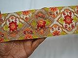 Saree Bordüre mit indischen Spitzen und Zierbändern,