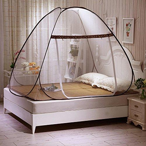 Tente moustiquaire pop-up pour lits, design pliable avec filet inférieur pour bébé, pour les voyages