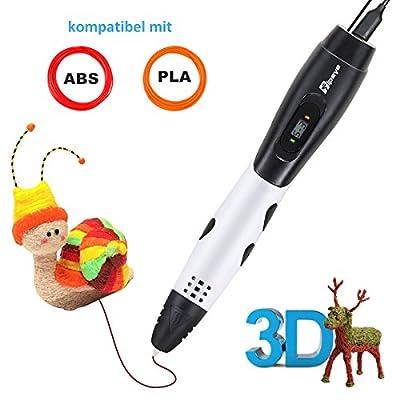 3D Stift Set mit LCD Display, 3D Drucker Stift, 3D Druckstift für Kinder mit 1.75 mm PLA Filament für Kinder Kritzelei, Zeichnung, Kunst & handgefertigte Werke
