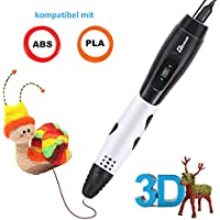 3D Stifte für Kinder mit LCD Display, 3D Druckstift, 3D Stift Set mit 1,75 mm PLA Filament für Kinder, Erwachsene, Kritzelei, Zeichnung und Kunst & handgefertigte Werke
