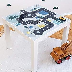 Limmaland Möbelaufkleber Straßen – passend für IKEA Lack Beistelltisch – Kinderzimmer Spieltisch – Möbel Nicht inklusive