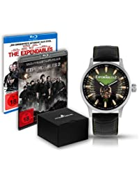 Jacques Lemans Unisex-Armbanduhr The Expendables 2 Analog Quarz Leder E-226.1