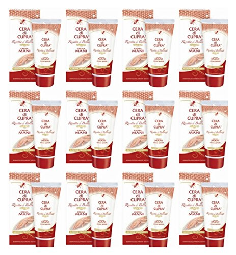 12 X Crema per le Mani Cera di Cupra Hand cream Cera Vergine d'Api Idratante