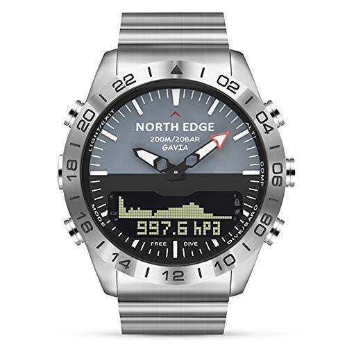 OOLIFENG Reloj Militar Impermeable de 100m, Buceo Relojes Hombres, Altímetro Barómetro Brújula Termómetro...
